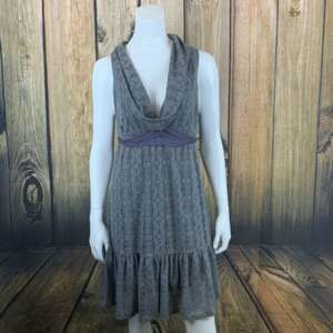 Free People Grey Lace Cowl Neck  Dress Size 10